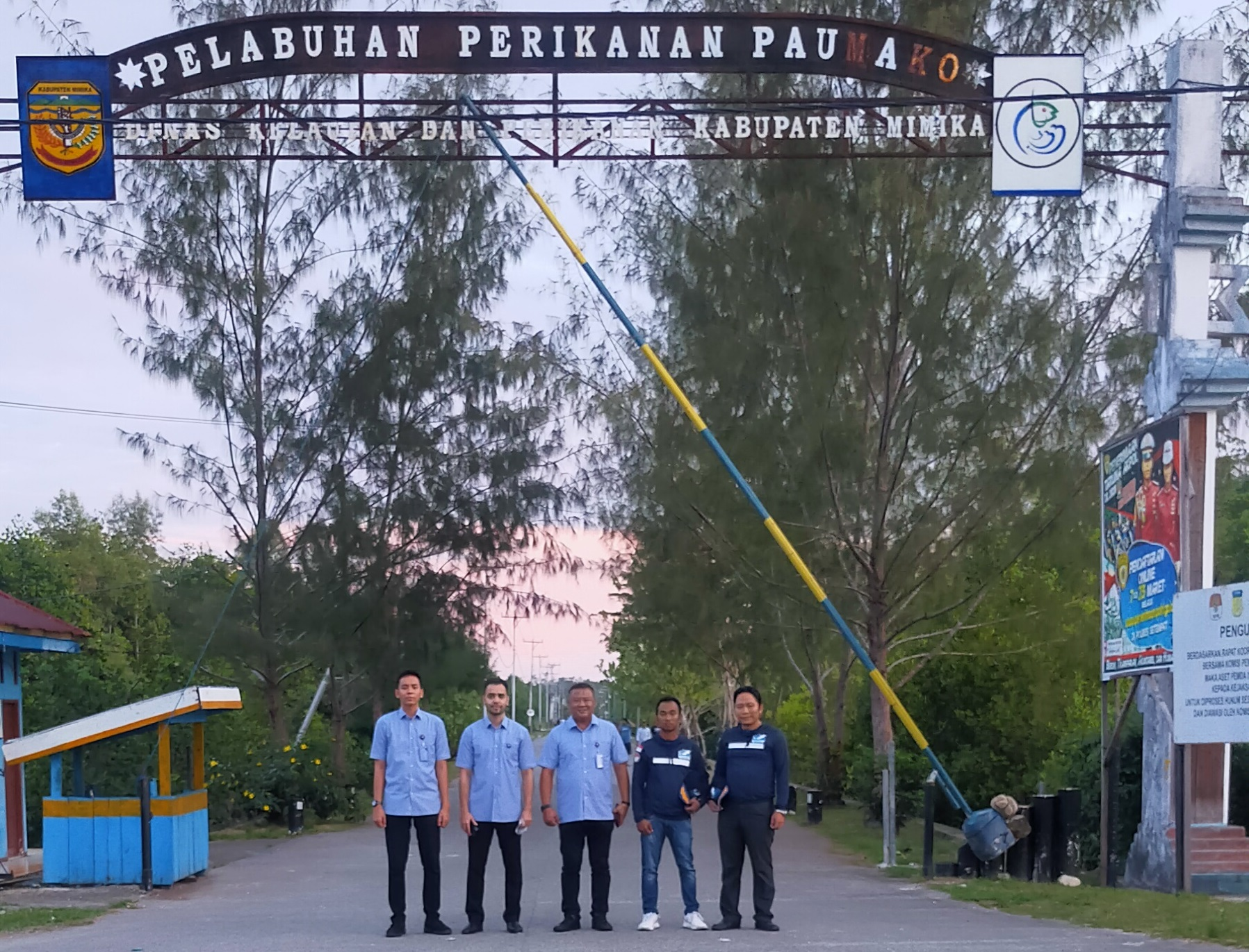 Tim agriminas di pelabuhan poumako Timika