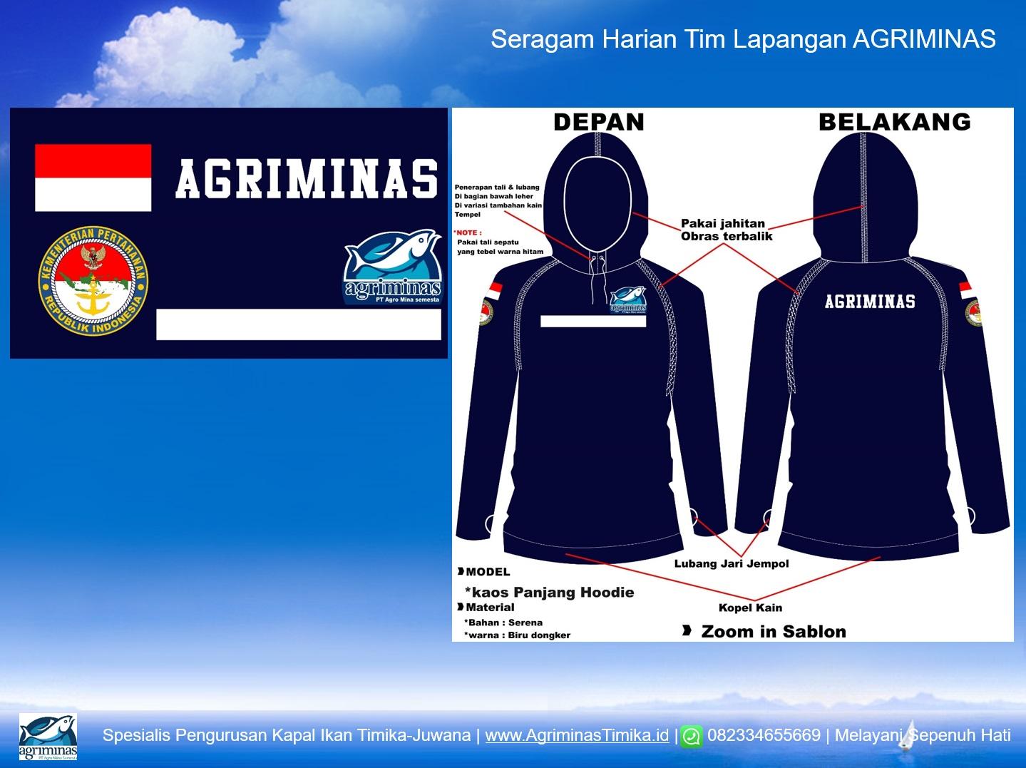 Kaos seragam harian tim Agriminas